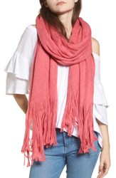 Free People Women's Kolby Brushed Scarf Dark Pink
