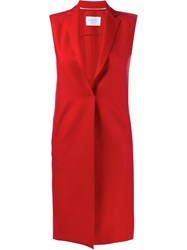 Harris Wharf London Long Waistcoat Red