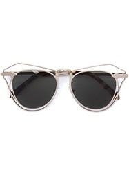 Karen Walker Eyewear 'Marguerite' Sunglasses Brown