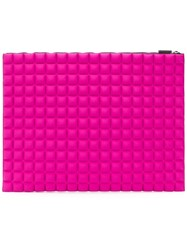 No Ka' Oi Chocolate Bar Quilted Clutch Pink And Purple