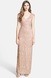 Women's Sue Wong Embellished Illusion Back Gown