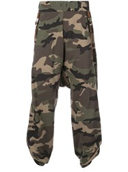 Mostly Heard Rarely Seen Loose Fit Camouflage Track Pants Green