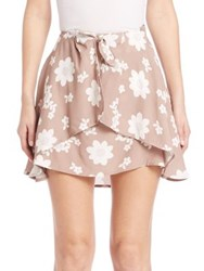 For Love And Lemons Sweet Jane Floral Skirt Coffee