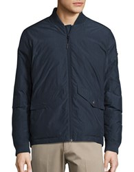 Hawke And Co Work Down Bomber Jacket Dark Sea