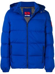 Calvin Klein Hooded Down Jacket Blue