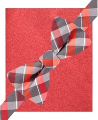 Alfani Spectrum Lennox Plaid Bow Tie And Pocket Square Set Only At Macy's Red