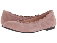 French Sole Cuff Flat Dusty Pink Suede Shoes Brown