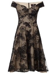Black Champagne Nova Prom Short Dress Cream