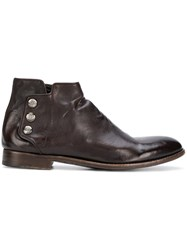 Alberto Fasciani High Ankle Boots Brown