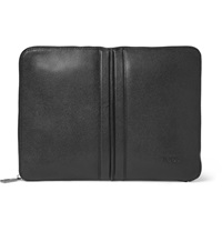 Tod's Cross Grain Leather Document Holder Black