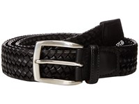 Torino Leather Co. 35Mm Italian Woven Stretch Black Belts