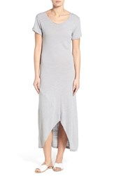 Women's Fine By Superfine 'Dream' Asymmetrical Slub Cotton Maxi Dress