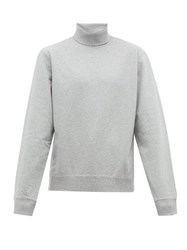 Hope Roll Neck Cotton Sweatshirt Grey