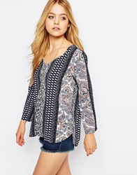 Jdy Long Sleeve Boho Print Top Boho Multi