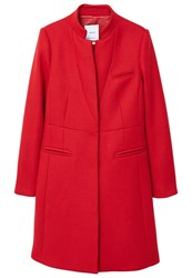 Mango Pocketed Wool Coat Red