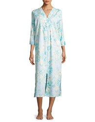 Miss Elaine Floral Print Cotton Nightgown Watercolor