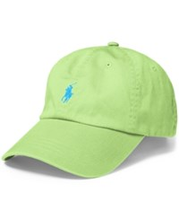 Polo Ralph Lauren Classic Chino Sports Cap Lime Green