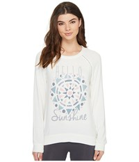 Pj Salvage Hello Sunshine Novelty Sweater Natural Women's Sweater Beige