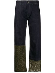 Mr And Mrs Italy Mid Rise Lace Trimmed Jeans 60