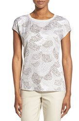 Women's Nordstrom Collection 'Darlington' Print Silk Drop Sleeve Top