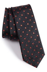 Paul Smith Men's Skinny Star Silk Jacquard Tie