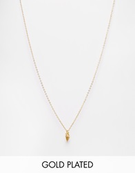 Mirabelle Gold Plated Necklace With Mini Arrow Charm