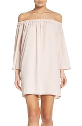 French Connection Women's Polly Off The Shoulder Dress Capri Blush