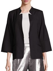 Halston Bell Sleeve Wool Jacket Black