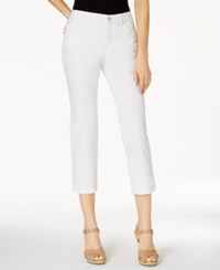 Charter Club Petite Bristol Capri Jeans Only At Macy's Bright White