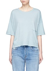 Rag And Bone 'Repair' Cutout Pocket Pima Cotton T Shirt Blue