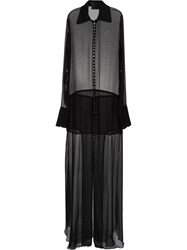 Andrea Bogosian Sheer Gown Black