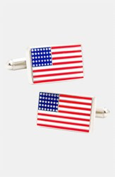 Ravi Ratan Men's Cufflinks Inc. 'American Flag' Cuff Links Silver