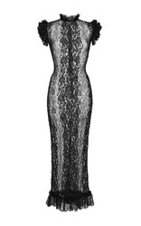 Dolce And Gabbana Stretch Lace Sheath Dress Black