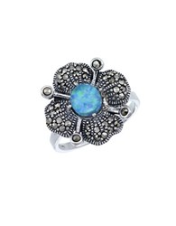Lord And Taylor Opal Sterling Silver Ring Blue