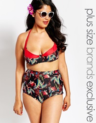 Big Guns For Asos Bustier Halter Bikini Top Blackprintwrede