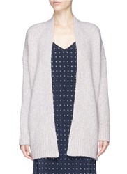 Vince Dropped Shoulder Open Front Cardigan Grey