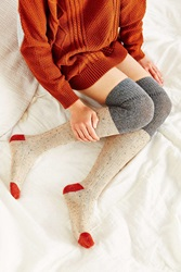 Urban Outfitters Colorblock Cozy Over The Knee Sock Grey Multi