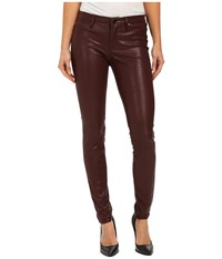 Blank Nyc Burgundy Five Pocket Vegan Leather Pants In Going Downtown Going Downtown Women's Casual Pants Purple