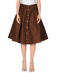 Miu Miu Skirts Knee Length Skirts Women Cocoa