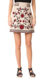 Whistles Delia Embroidered Skirt Multi