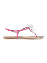 Anna Baiguera Embellished Sandals Pink And Purple