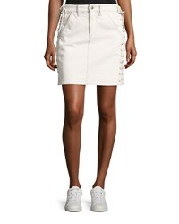 A.L.C. Ringo Laced Denim Skirt White