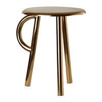Pols Potten Cow Stool With Handle Gold