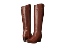 Frye Jackie Button Extended Cognac Extended Smooth Vintage Leather Women's Dress Pull On Boots Brown