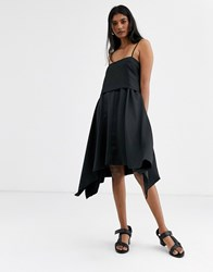 Soaked In Luxury Layered 2 Way Dress Black