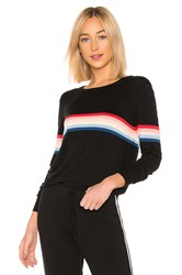 Spiritual Gangster X Madeleine Thompson Stripe Sweater Black