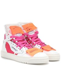 Off White Exclusive To Mytheresa Leather Sneakers White