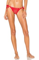 Beach Bunny Hard Summer Side Tie Bottom Red