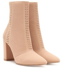Gianvito Rossi Exclusive To Mytheresa.Com Vires Knitted Ankle Boots Beige