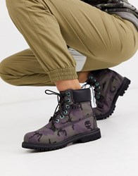 Timberland 6 Utility Ankle Boots In Black Camo